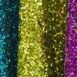 Blue, Yellow and Purple Christmas Glitter — Zdjęcie stockowe