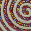 Colorful Swirly Christmas Decor — Stockfoto