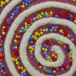 Colorful Swirly Christmas Decor — Stok fotoğraf