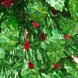 Green and Red Christmas Tinsel — Stock Photo