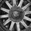 Antique Wooden Wheel — Stock Photo