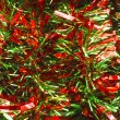 Stock Photo: Red and Green Christmas Garland