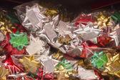 Box of Christmas Bows — Stock Photo