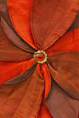 Red Poinsettia Christmas Decor — Zdjęcie stockowe