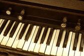 Diagonal Closeup of Organ Keys — Stock Photo