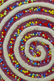 Colorful Swirly Christmas Decor — Zdjęcie stockowe