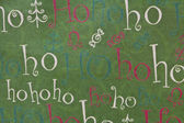 Christmas Ho Ho Ho Background Horizontal — Stock Photo