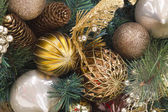Christmas Pinecone Wreath — Stock Photo