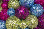 рождественский фон шаров — Стоковое фото