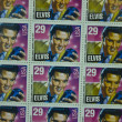 A Sheet of Old Elvis Stamps 1 — Stock Photo