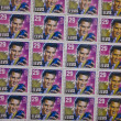 A Sheet of Old Elvis Stamps 2 — Stock Photo