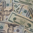 Twenty Dollar Bills for Abstract Background — Stock Photo