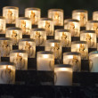 Lit Candles in Notre Dame — Stock Photo