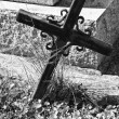 Cemetery Cross — Stock Photo