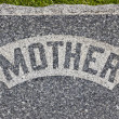 Stock Photo: Mother Headstone