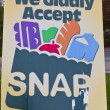 Постер, плакат: We Gladly Accept SNAP