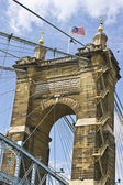 Roebling Suspension Bridge — 图库照片