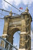 Roebling Suspension Bridge — Foto Stock
