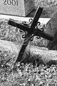 Begraafplaats kruis — Stockfoto