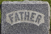 Father Headstone — Stock Photo