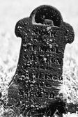 Small and Dark Headstone from the 19th Century — Stock Photo