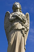 Granite Cemetery Angel — Stock Photo
