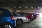 Parking Garage with Parked Cars — Stock Photo