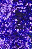 Purple Christmas Tinsel — Stock Photo
