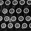 Stock Photo: Antique Typewriter QWERTY IX