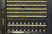 Closeup of a Vintage Telephone Switchboard — Stock Photo
