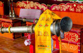Musical instruments in a Buddhist temple. — ストック写真