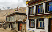 Tibetan houses in the village — Stock Photo
