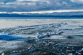 Panorama of Lake Manasarovar. Tibet — Стоковое фото