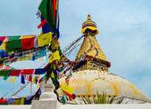 在加德满都博佛塔。尼泊尔 — 图库照片