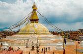 Boudhanath Stupa in Kathmandu. Nepal — Stock Photo