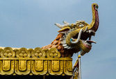 Fragments of the decoration of the temple of Nepal — Stock Photo