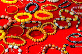 Close-up of Tibetan Bracelets in a market in Tibet on the road — Stock Photo