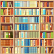 Stock Vector: Bookcase full of books
