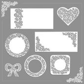 Vector ornament wedding kit — Stock Vector