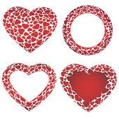 векторные рамки сердца — Cтоковый вектор