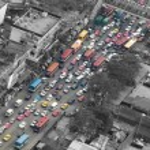 Traffic jam in Bangkok — Stock Photo #41495301