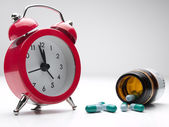 Time for the medicine — Stock Photo