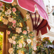 Restaurant canopy in Paris — Stock Photo