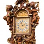 Wooden clock — Stock Photo