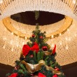 Tall christmas tree with luster — Стоковое фото
