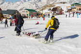 Injured skier — Stock Photo