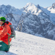Stock Photo: skiing