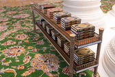 The holy Quran books in a mosque — ストック写真