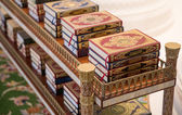 The holy Quran books in a mosque — Zdjęcie stockowe