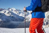катание на лыжах — Стоковое фото